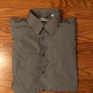 Calvin Klein Gray Button Down Dress Shirt